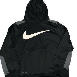 NIKE Boys Size L Pullover Hoodie Sweatshirt Black
